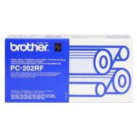 Farbband 2er Pack  Original Brother PC-202RF schwarz