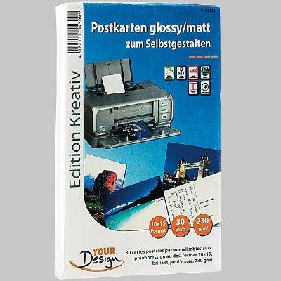 Postkarten DIN 10 x 15 glossy, 30 Stck, 230 g/m²