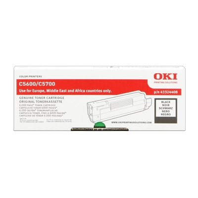 Toner Original OKI 43324408 C5600 schwarz