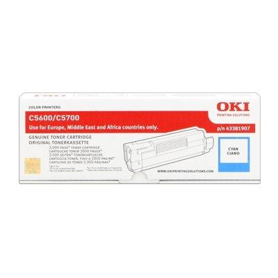Toner Original OKI 43381907 C5600 cyan