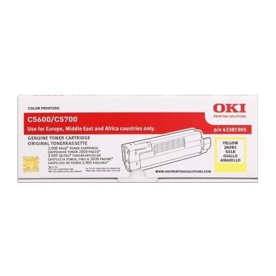 Toner Original OKI 43381905 C5600 gelb