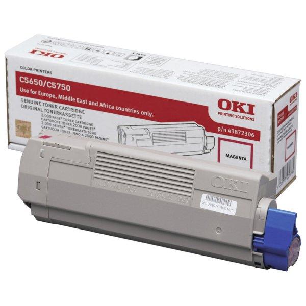 Toner Original OKI 43872306 C5650 magenta
