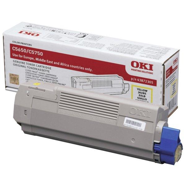 Toner Original OKI 43872305 C5650 gelb