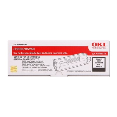 Toner Original OKI 43865724 C5850 schwarz