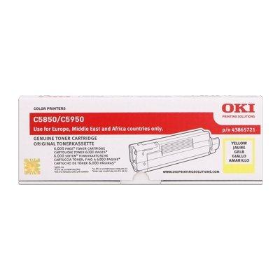 Toner Original OKI 43865721 C5850 gelb