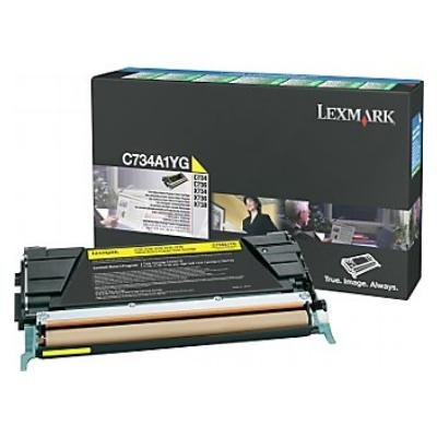 Toner Original Lexmark C734A1YG C734 gelb
