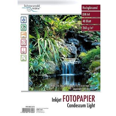 Fotopapier Candescum DIN A4 beidseitig, glossy,48 Blatt, 260 g/m²