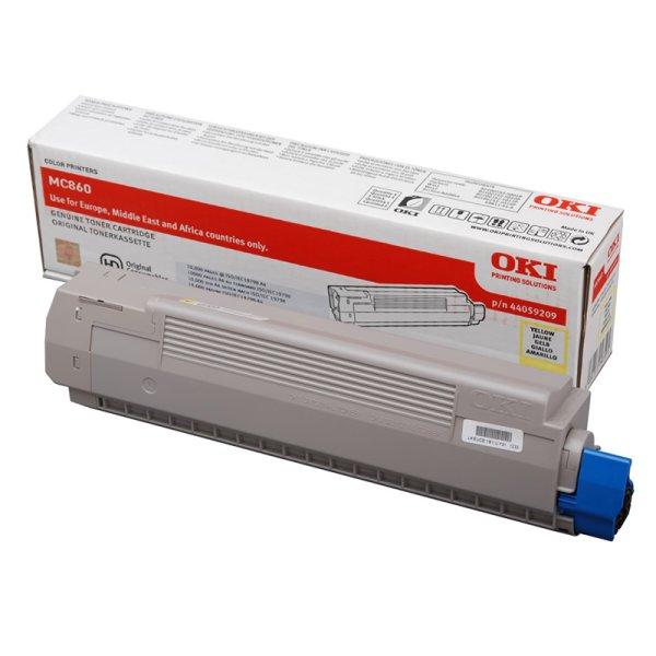 Toner Original OKI 44059209 MC860 gelb