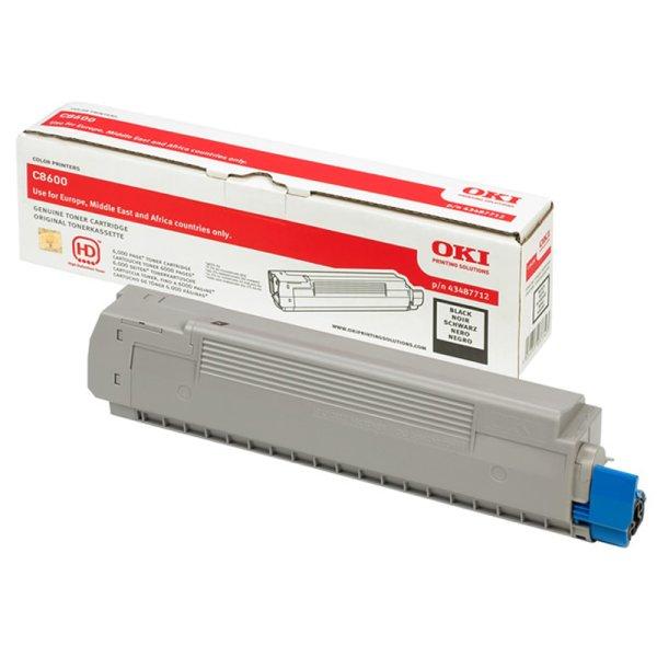 Toner Original OKI 43487711 C8600 cyan