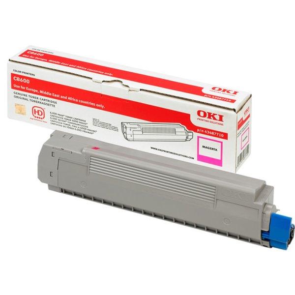 Toner Original OKI 43487710 C8600 magenta