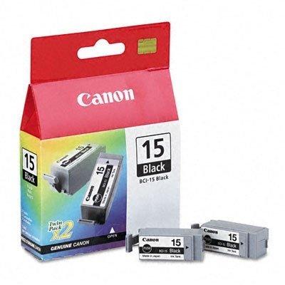 Druckerpatrone Doppelpack Original Canon BCI 15BK (8190 A 002) schwarz