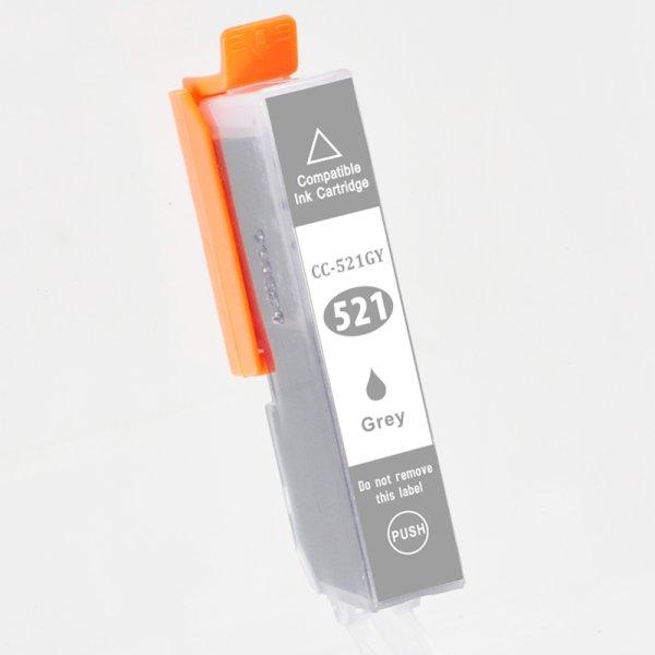Druckerpatrone Kompatibel zu Canon CLI-521GY (2937 B 001) grau