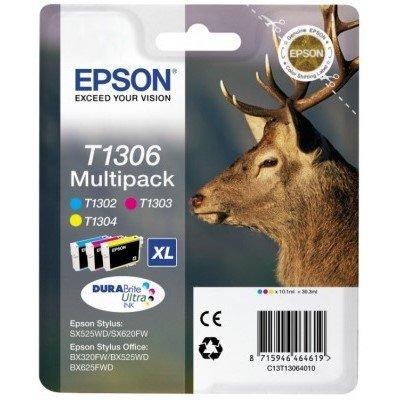 Druckerpatrone Multipack Original Epson T1306, C13T13064010 schwarz, cyan, magenta, gelb