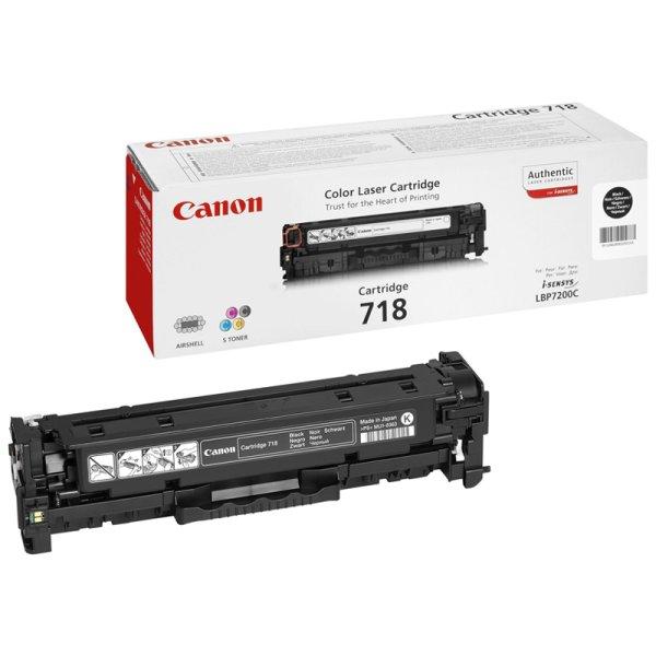 Toner Original Canon 718BK (2662 B 002) schwarz