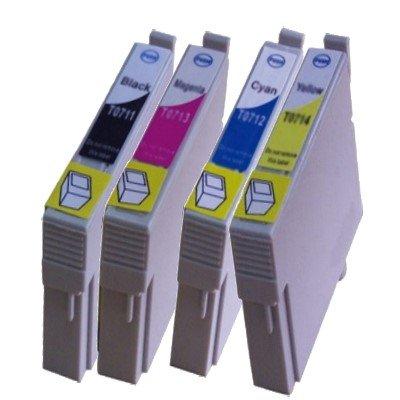 Druckerpatrone Multipack Kompatibel zu Epson T0711/ T0712/ T0713/ T0714 schwarz, cyan, magenta, gelb