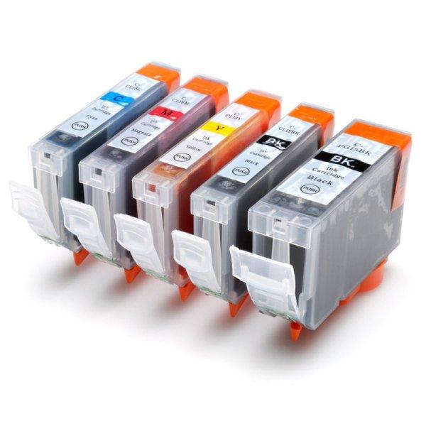 Druckerpatrone Multipack Kompatibel zu Canon PGI-5Bk/ CLI-8C/ -M/ -Y/ -BK schwarz, cyan, magenta, gelb, foto-schwarz