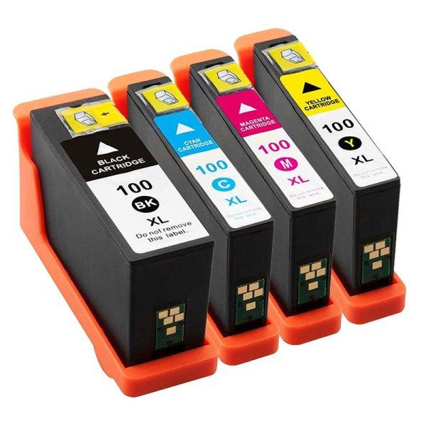 Druckerpatrone Multipack Kompatibel zu Lexmark 100XL BK/ C/ M/ Y schwarz, cyan, magenta, gelb