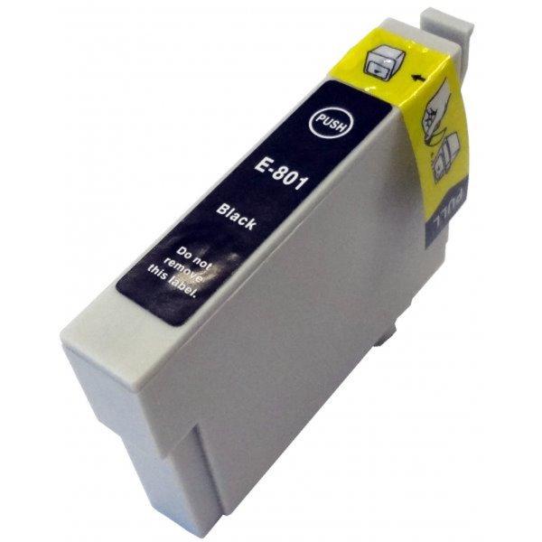 Druckerpatrone Kompatibel zu Epson T0801, C13T08014010 schwarz