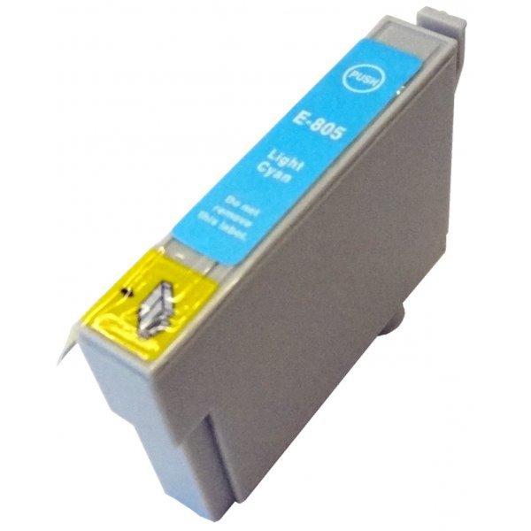 Druckerpatrone Kompatibel zu Epson T0805, C13T08054010 foto-cyan