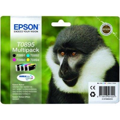 Druckerpatrone Multipack Original Epson T0895, C13T08954010 schwarz, cyan, magenta, gelb