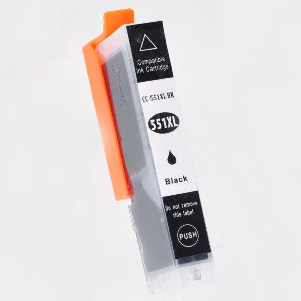 Druckerpatrone Kompatibel zu Canon CLI-551BKXL (6443 B 001) foto-schwarz