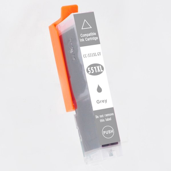 Druckerpatrone Kompatibel zu Canon CLI-551GYXL (6447 B 001) grau