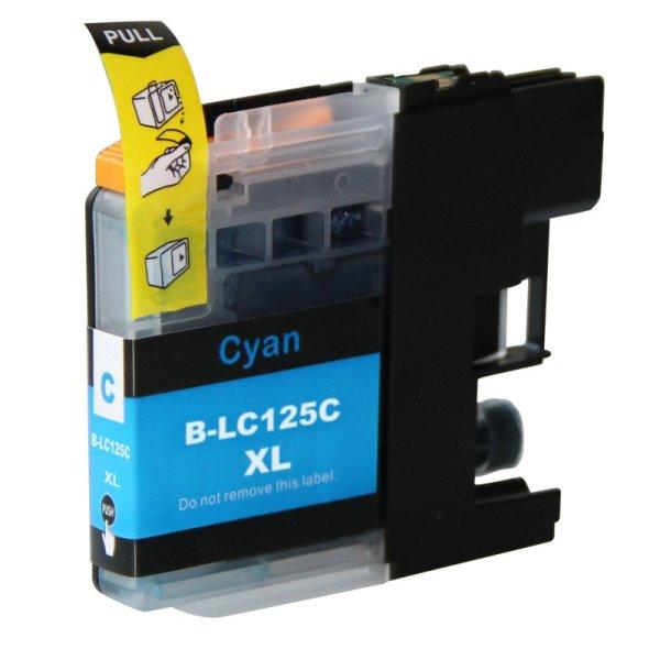 Druckerpatrone Kompatibel zu Brother LC-121 C / LC-123 C / LC-125 XL C cyan