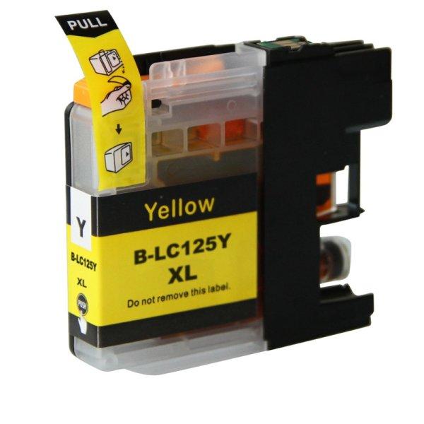 Druckerpatrone Kompatibel zu Brother LC-121 Y / LC-123 Y / LC-125 XL Y gelb