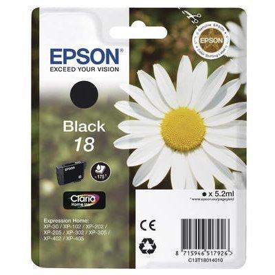 Druckerpatrone Original Epson 18, T1801, C13T18014010 schwarz