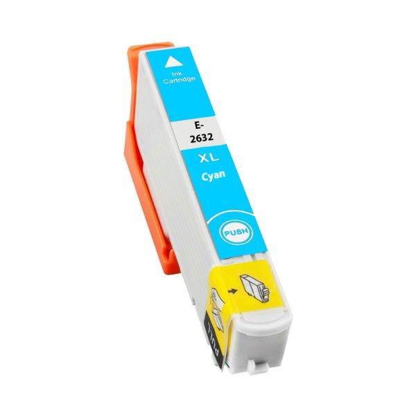 Druckerpatrone Kompatibel zu Epson 26XL, T2632, C13T26324010 cyan