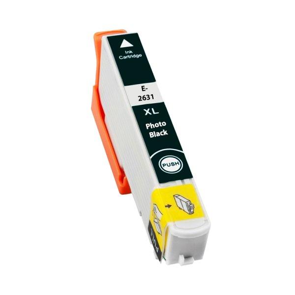 Druckerpatrone Kompatibel zu Epson 26XL, T2631, C13T26314010 foto-schwarz