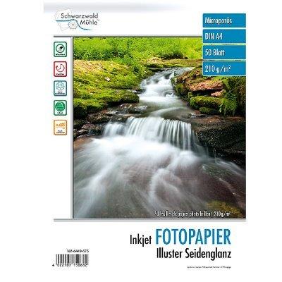 Fotopapier Illuster DIN A4 seidenglänzend, 50 Blatt, 210 g/m², 9600 dpi