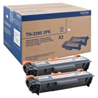 Toner Doppelpack Original Brother TN-3390 TWIN schwarz