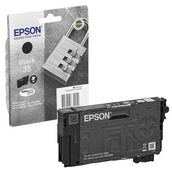 Druckerpatrone Original Epson 35, T3581, C13T35814010 schwarz