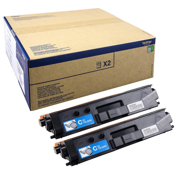 Toner Doppelpack Original Brother TN-329 C TWIN cyan