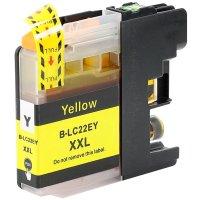 Druckerpatrone Kompatibel zu Brother LC-22EY gelb