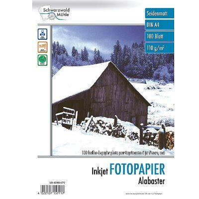 Fotopapier Alabaster DIN A4 matt, 100 Blatt, 110 g/m², 9600 dpi