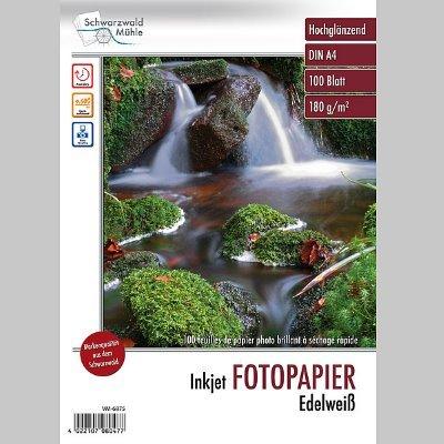 Fotopapier Edelweiß DIN A4 hochglänzend, 100 Blatt, 180 g/m², 9600 dpi