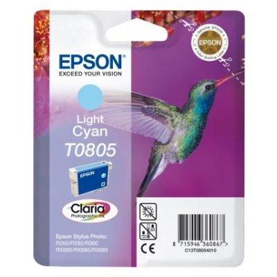Druckerpatrone Original Epson T0805, C13T08054010 foto-cyan
